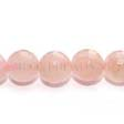 ROSE QUARTZ GEMSTONE BEADS - FACETED ROUND 12MM